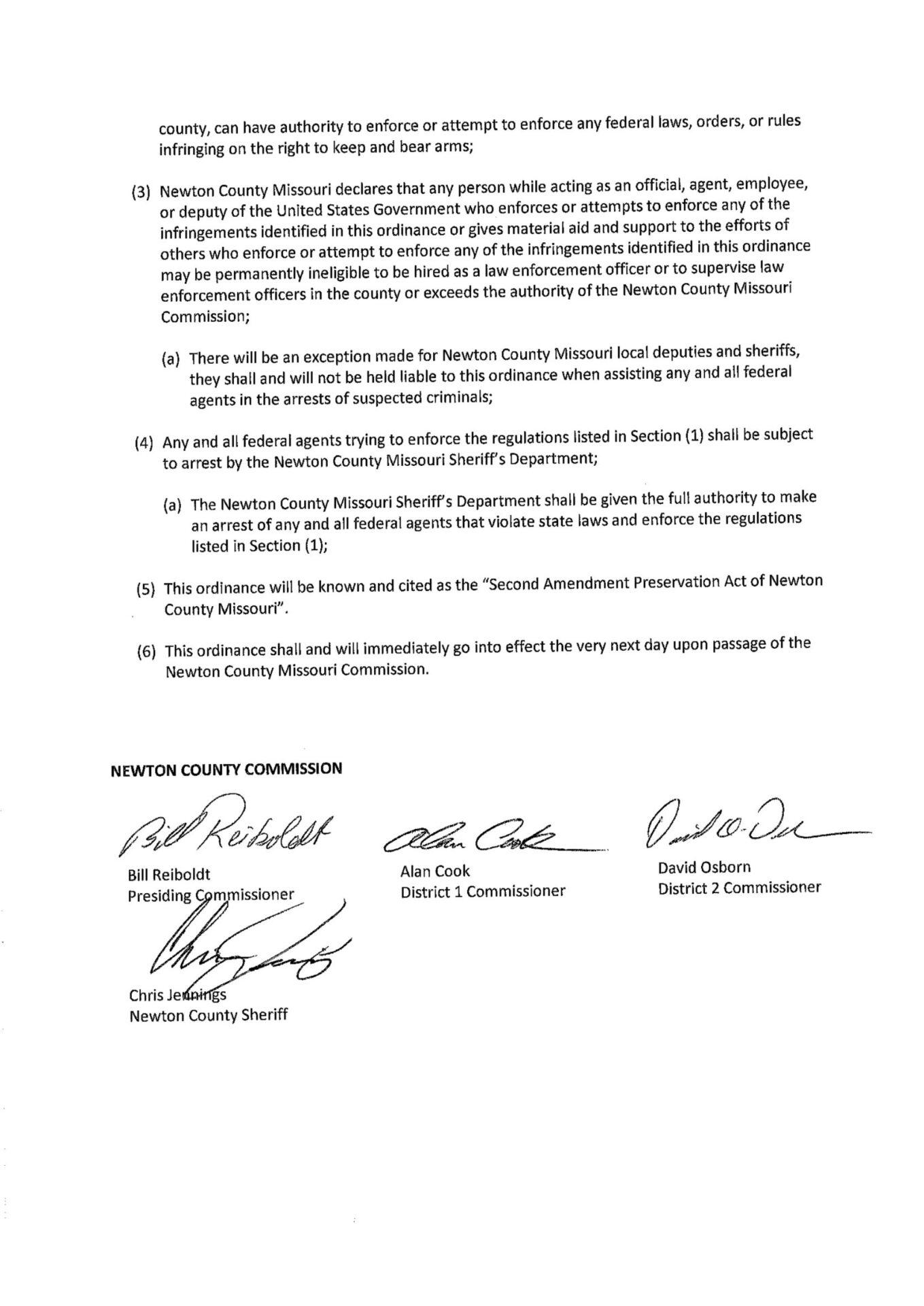 Newton County Second Amendment Preservation Act pg-2