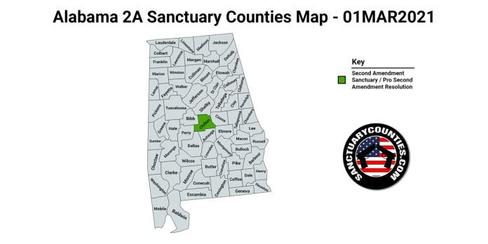 Alabama Second Amendment Sanctuary Map