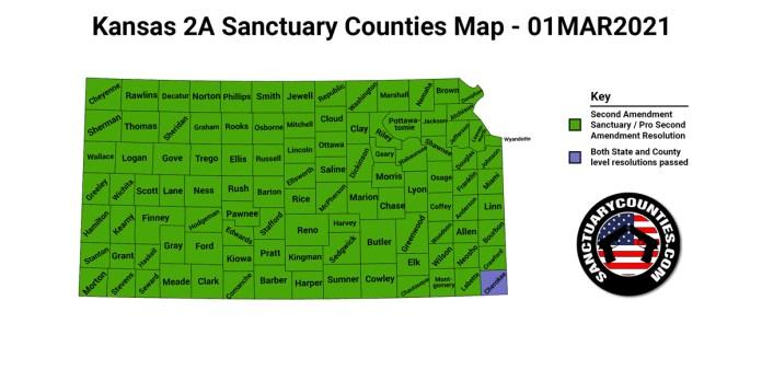 Kansas Second Amendment Sanctuary State Map
