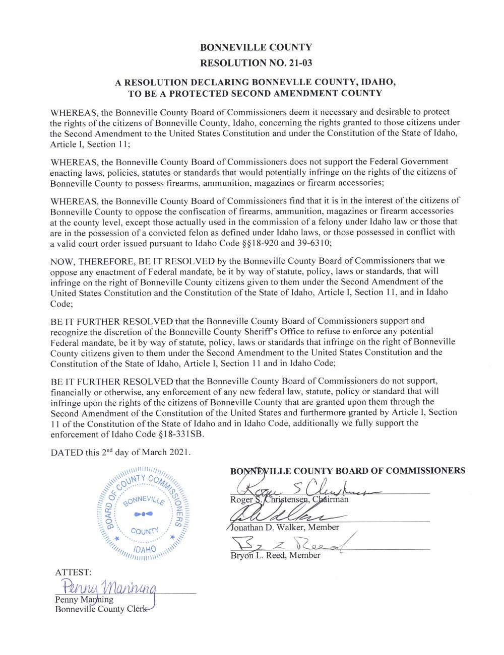 Bonneville County Idaho Page 1