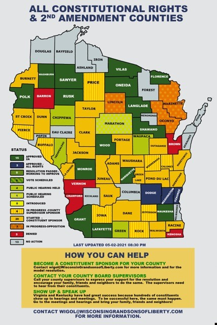 Wisconsin 2A Sanctuary Map Update 02MAY2021