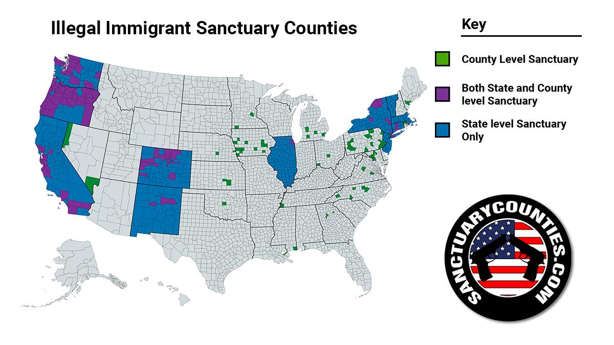 Illegal Immigrant Sanctuary Counties