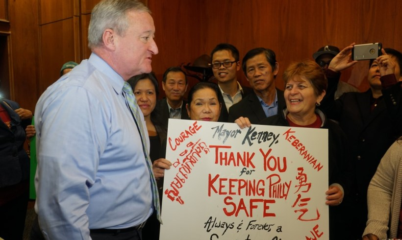 Thanking Mayor Kenney for standing strong as a Sanctuary City