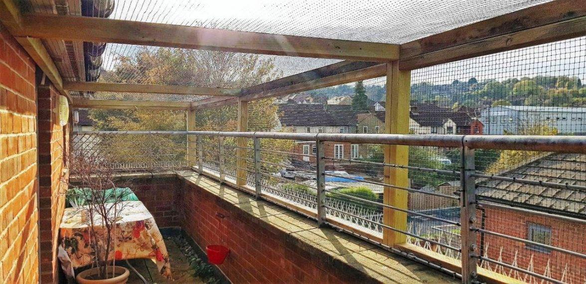 catio enclosure on balcony