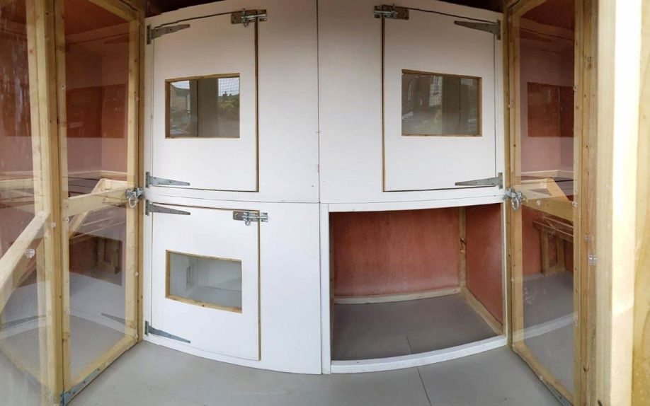 Heated Bedrooms in Cattery building