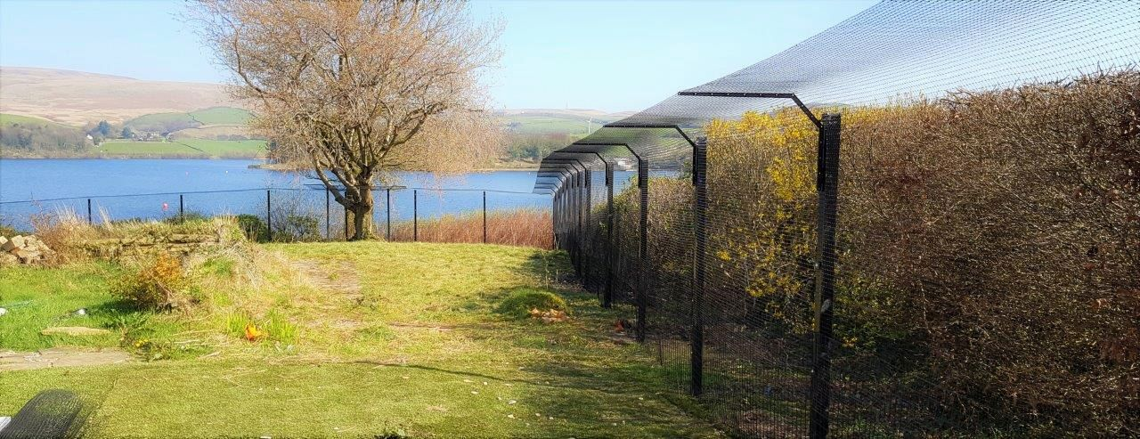 Cat fencing made by Sanctuary SOS cat proof fencing company