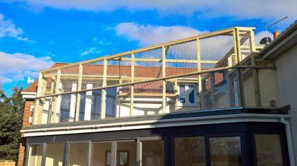 balcony terrace cat enclosure
