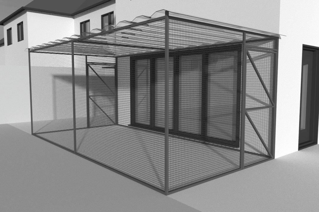 Cat Enclosure Design Drawing