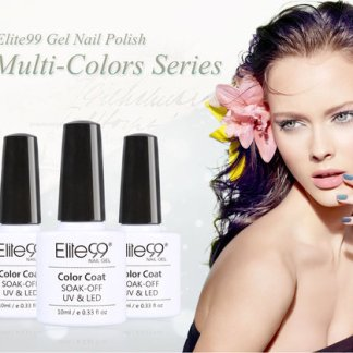 Elite99 12 Colour Series Gel Polish Manicure Kit Set Gift Varnish Nail Art 10ML