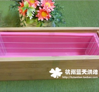 Silicone Mould-Rectangle Mold with Wooden Box ,Swirl Soap Mold Tool