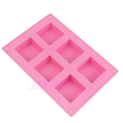 Silicone Mould-Block-6-Square Moulds-Candles-Soaps