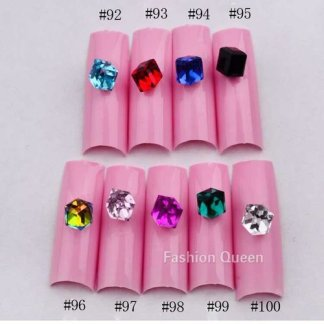 Crystal-Clear- Flat Back Rhinestones-500Pcs-Diamante Gems Nail Art Crafts 1.5-6mm-Manicure Pedicure