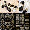 Nail Art Stickers Decoration Metal Line Striping Tape Transfer Foils Laser Self-Adhesive Design DIY