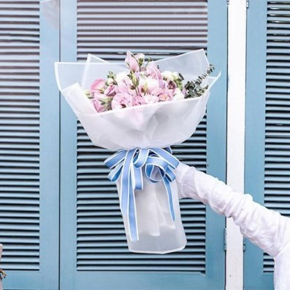 20pcs Flower Packaging Paper Frosted Florist Supplies Handmade Material Bouquet Pack Wrapping Paper