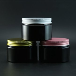 Black 120g Plastic Cream Bottle Refillable Cosmetic Body Lotion Jar Empty-Bronze Lid