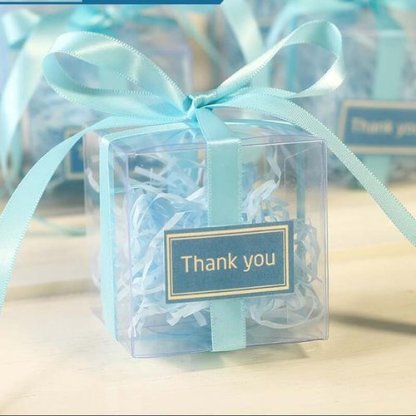 25 Pieces/lot Clear PVC Square Gift Boxes Favor Candy Packing