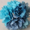 Coffee filter hydrangeas-Water colour-3 Pieces-Blue Notes-Hand Made