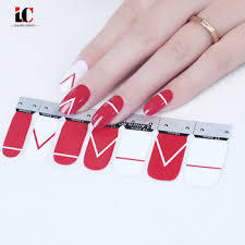 1 Sheet Pure Gradient Colors Nails Sticker Art Decorations Manicure DIY Nail Polish Strips Wraps-