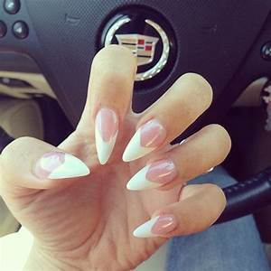 500pcs Pointy Stiletto Nail Tips False Fake Manicure Acrylic Gel White /Clear /Natural Diy-Salon
