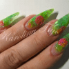 False Nails-Pastel Lime Green-100Pieces-French Nails
