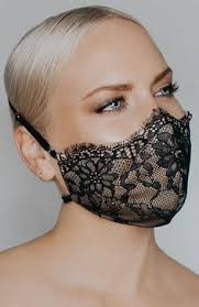 Women Lace Embroidery Summer Ice Silk Face Mask