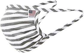 Striped Fabric Face mask (black & White