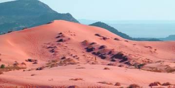 Sandboarding Coral Pink Sand Dunes, Utah