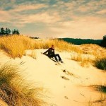 Sandboarding and sand sledding in Oregon