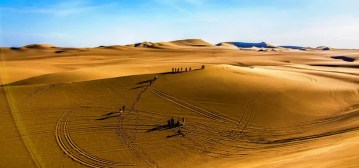 Sand dunes near Ica, Peru