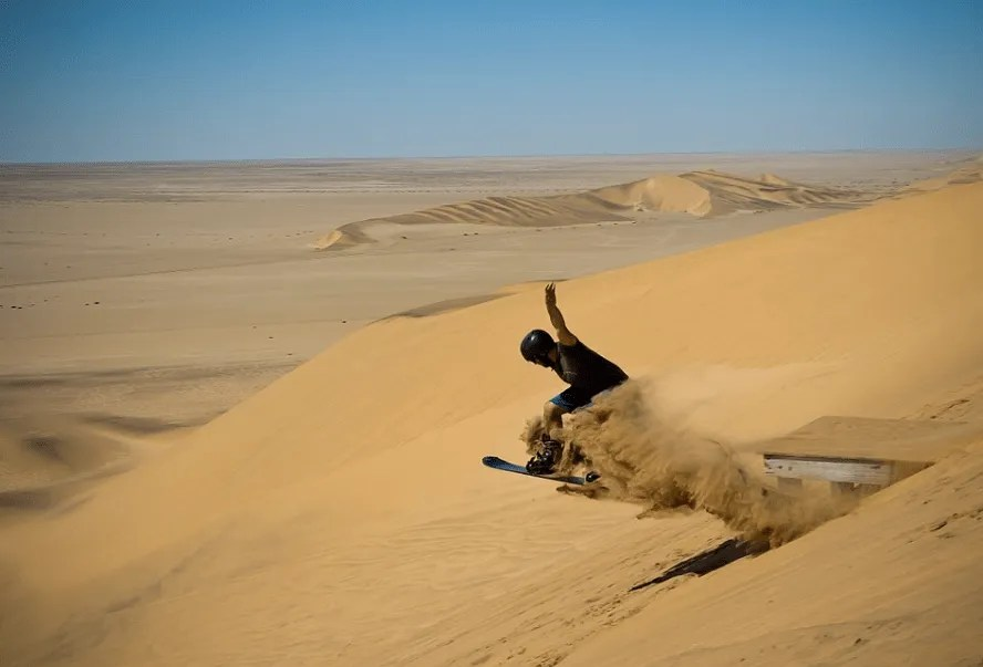 Dune Surfing in Namibia