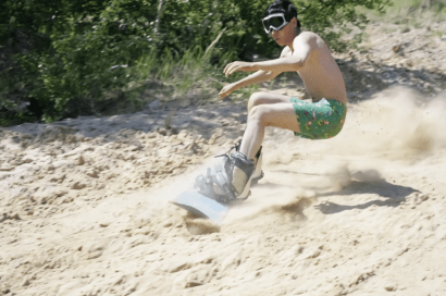 Sandboarding in Moscow, Russia