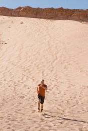 Meilleur moyen de descendre la dune: courir!!!