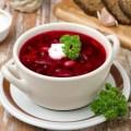 Красный борщ без мяса с фасолью