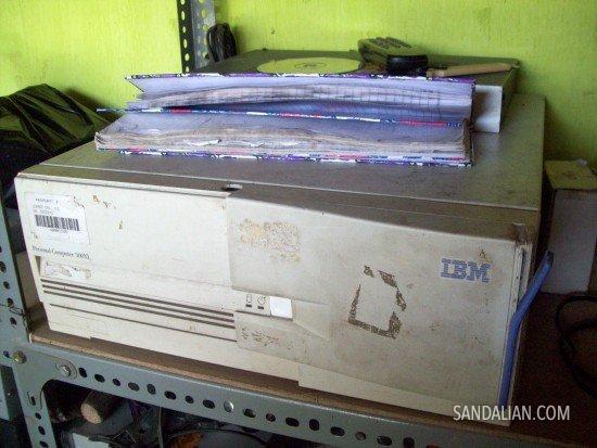old IBM CPU case
