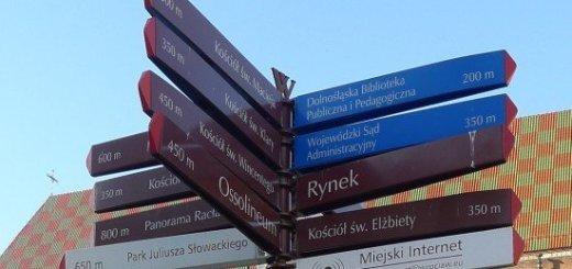 road sign near rynek, Wroclaw