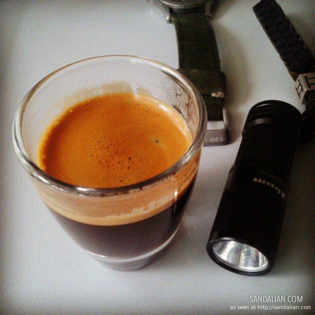 espresso & flashlight