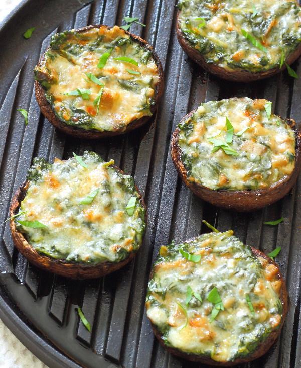 creamy-spinach-stuffed-mushrooms