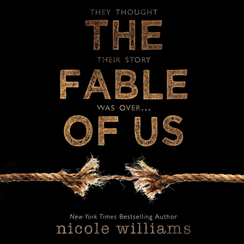 Add-On Example: Audiobook cover for The Fable of Us by Nicole Williams