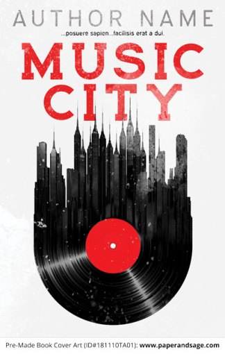 Pre-Made Book Cover ID#181110TA01 (Music City)