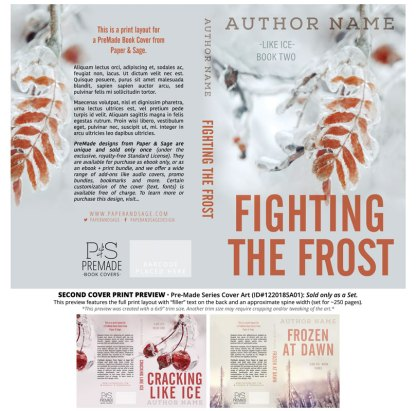 Print layout for PreMade Series Covers ID#122018SA01 (Like Ice Trilogy, Only Sold as a Set)