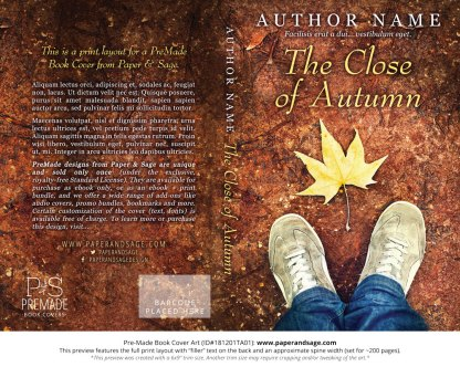 Print layout for Pre-Made Book Cover ID#181201TA01 (The Close of Autumn)