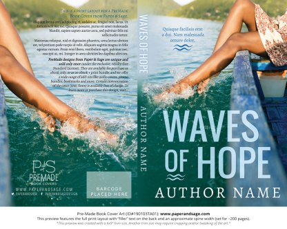 Print layout for Pre-Made Book Cover ID#190103TA01 (Waves of Hope)
