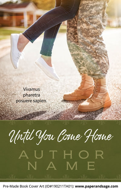 Pre-Made Book Cover ID#190211TA01 (Until You Come Home)