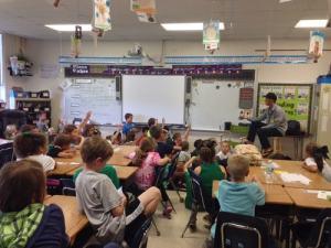 Corey Speaking With Children