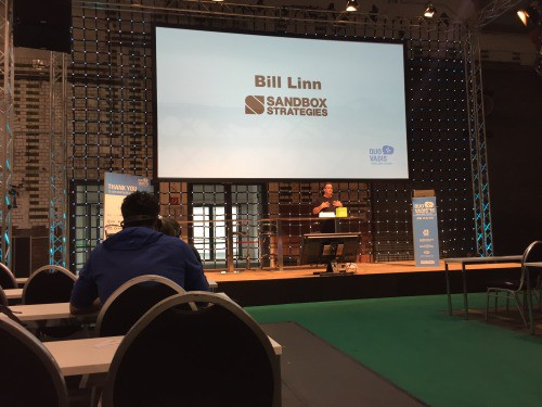 Bill Speaking at Trade Show