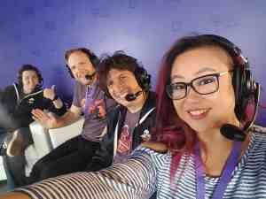 Clara at TwitchCon with Jackbox Games