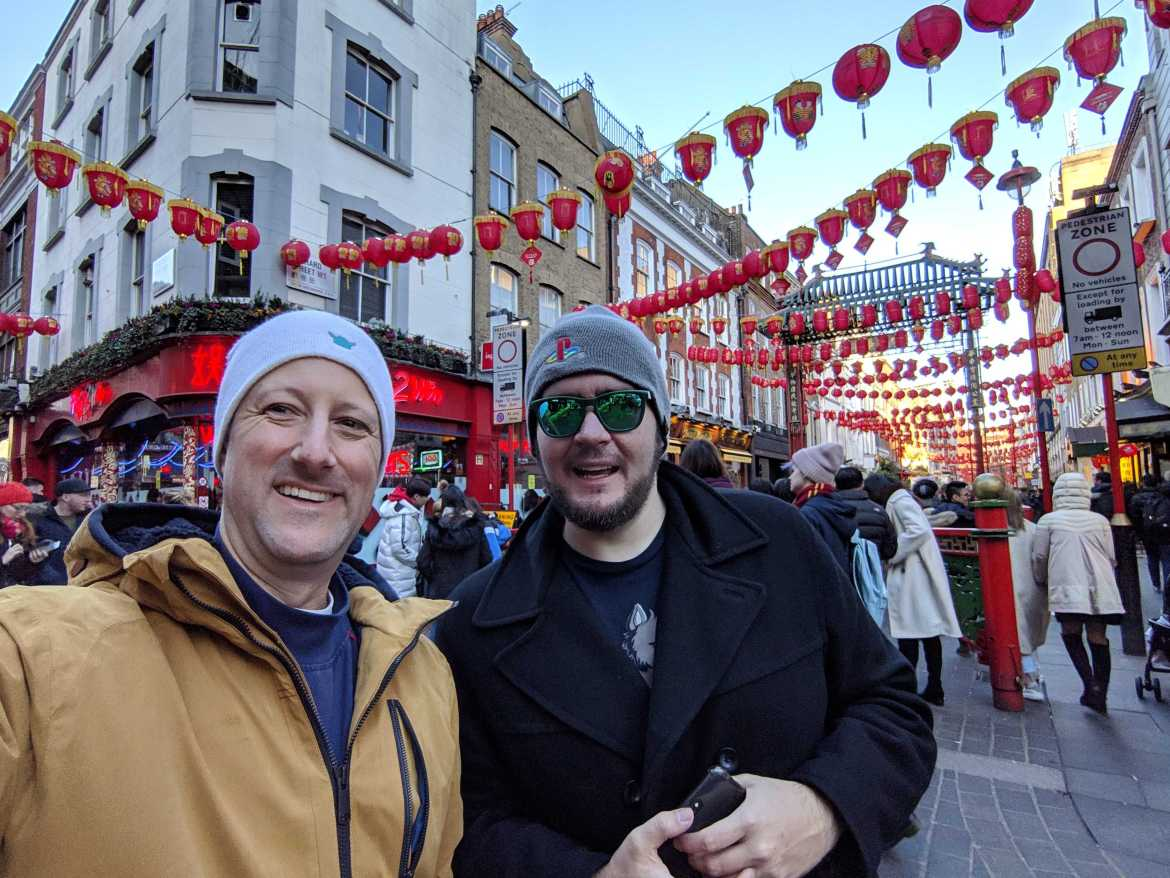 Rob and Shaun in Europe