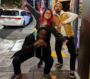 Clara, Pat, and former Sandboxer Andy in SF!