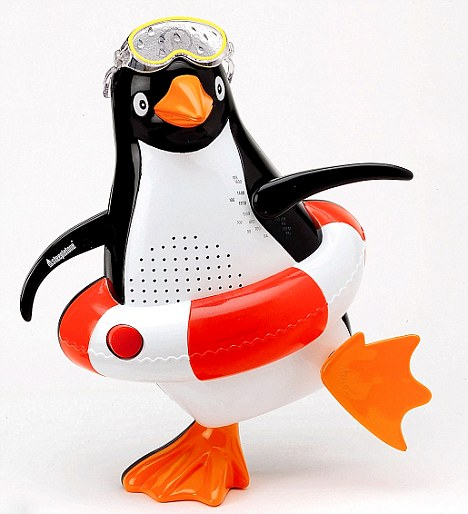 shower radio penguin