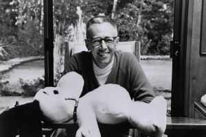 Charles M. Schulz and Snoopy